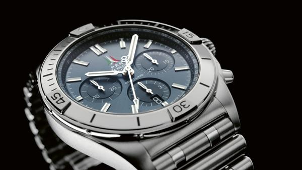 Breitling Chronomat B01 42 Frecce Tricolori Limited Edition con quadrante blu