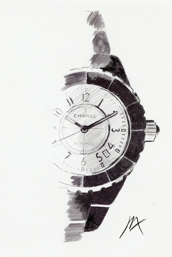Chanel J12 - disegno