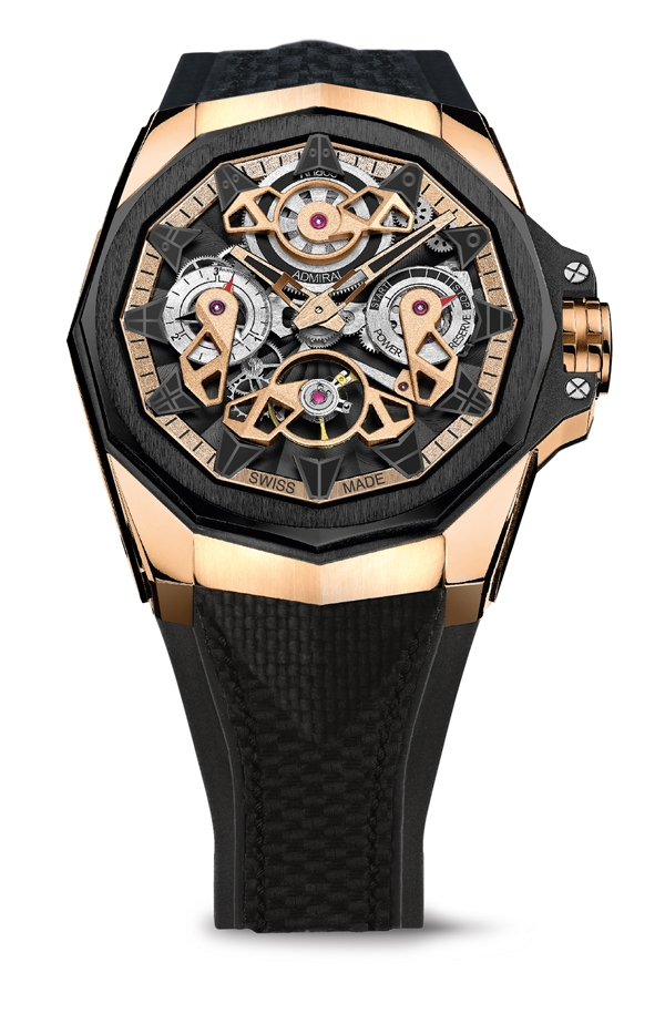 Corum Admiral 45 Automatic Openworked Flying Tourbillon Carbon & Gold