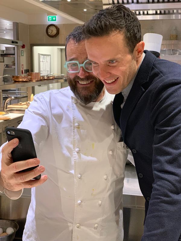 Giancarlo Morelli e Christof Innerhofer