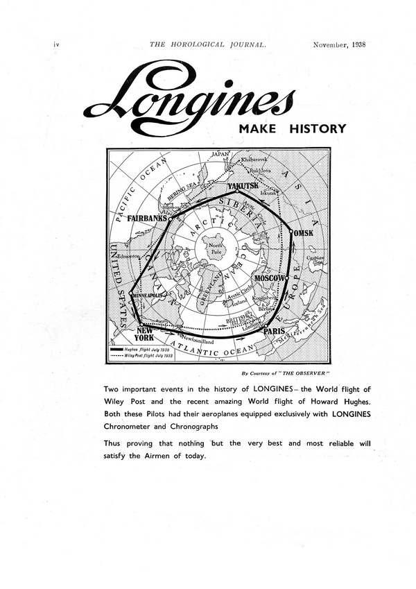 Longines advertisement Howard Hughes