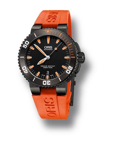 Oris Aquis Date Orange