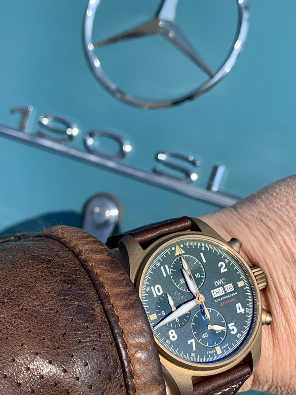 IWC Pilot's Watch Chronograph Spitfire e Mercedes 190SL