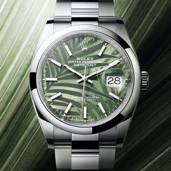 Rolex Oyster Perpetual Datejust 36 quadrante verde oliva