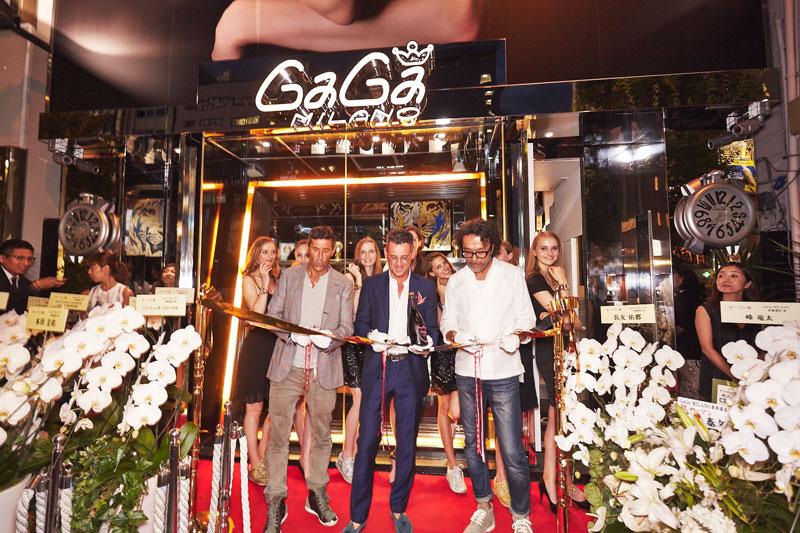 Ruben Tomella all'inaugurazione dello store Gagà a Milano