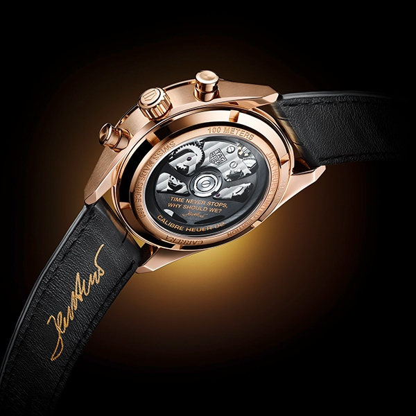TAG Heuer Carrera Chronograph Jack Heuer Birthday Gold Limited Edition - Fondello